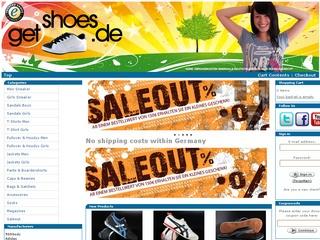 5.- EUR Neukunden Rabatt oder 10% sparen bei getshoes.de dem Streetwear Fashion Shop im Netz