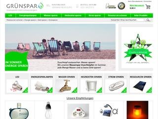 Grün Sparer gehen auf grünspar.de!