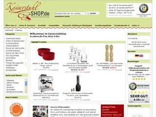 10 % Rabatt bei Kaiserstuhlshop.de - Exzellentes für Wein, Küche & Bar!