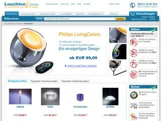 10,- Euro sparen & keine Versandkosten zahlen! LeuchtenZentrale.de der Fachmarkt für Leuchten & Lampen