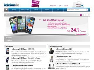 5,55 Euro Gutschein für Neukunden bei telefon.de dem Handys, Festnetz & Zubehör shop im Netz